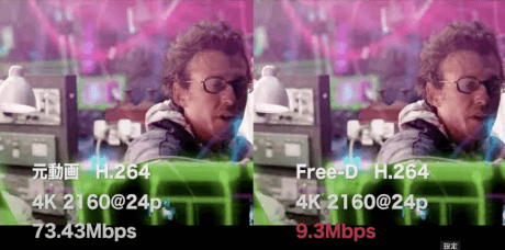 Free-D映像圧縮比較動画